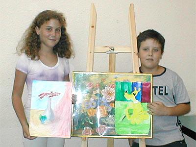 Юдит Келлер и Миша Ших - первые шаги в живописи